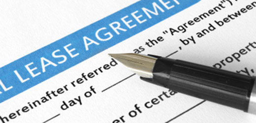 Lease agreement listing apartment